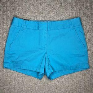 """J. Crew Aqua Blue Chino Short 4"""" Inseam"""
